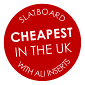 Cheapest in the UK - Slatwall with ali inserts