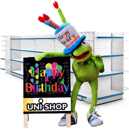 Happy Birthday To Uni-Shop!