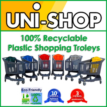 Recyclable Plastic Shopping Trolleys