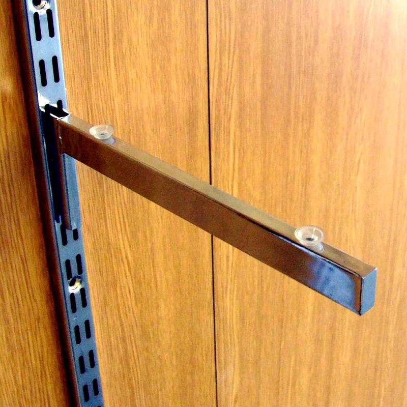 uni shop shop fittings twin slot glass shelf brackets. Black Bedroom Furniture Sets. Home Design Ideas