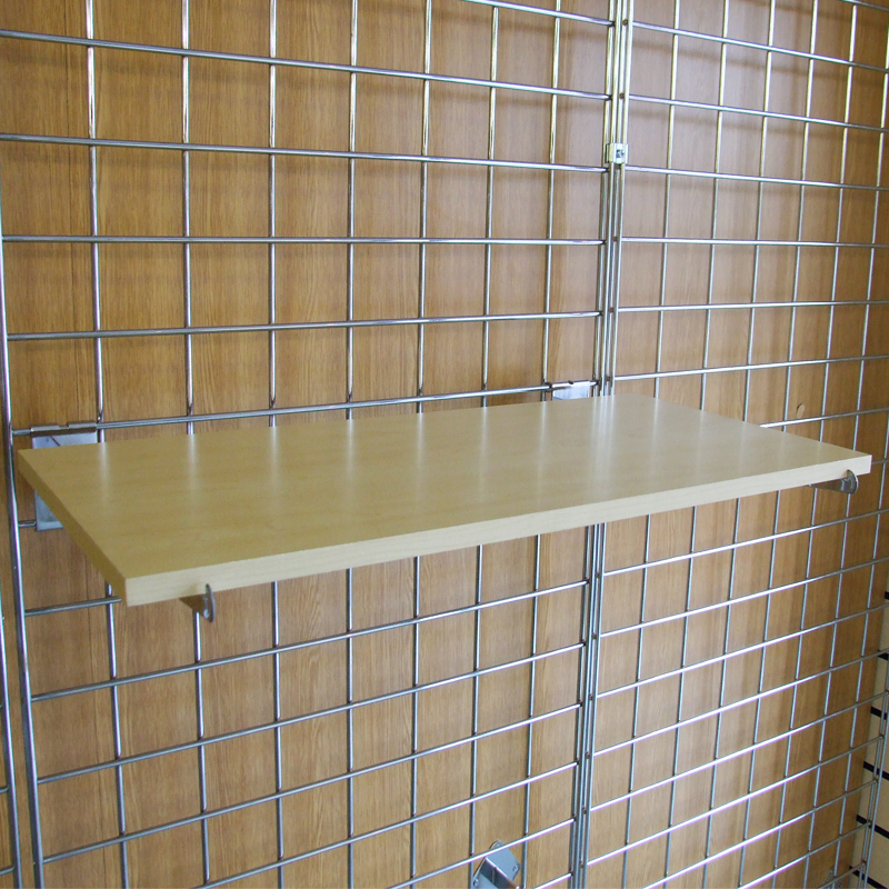 Gridwall MDF Shelves Shop Fittings (Maple Or White