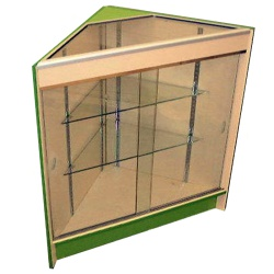 Glass Corner Retail Display Unit