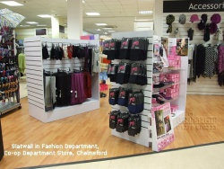 Slatwall Gondola in Fashion Department, Co-op Department Store, Chelmsford
