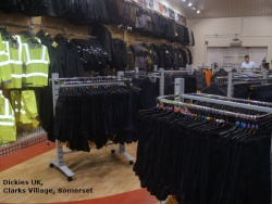 Dickies UK, Clarks Village, Somerset Twin Slot and Garment Rails