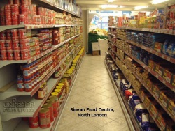 Shelving for Sirwan Food Centre, North London
