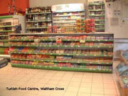 Retail Counter at Turkish Food Centre, Waltham Cross