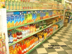 Shelving in Turkish Food Centre, North London
