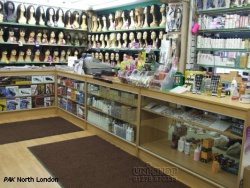 Retail Display Counter and Plain Shop Shelving Walls at PAK, North London