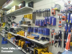 Peg Wall Shelving bays for Torne Valley Ltd, Doncaster
