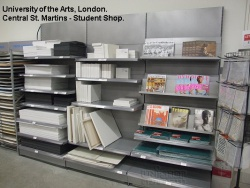 Shelving Bays for The University Of The Arts, London, Centreal St. Martins Student Shop