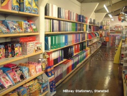 Plain Store Shelving Bays for Millway Stationery, Stansted