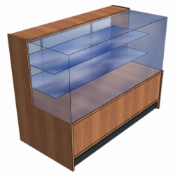 Shop Display Counter With Glass Sides