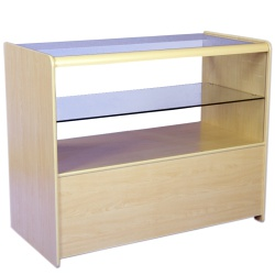 Half Vision Display Retail Counter (Assorted Colours)