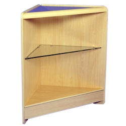 Open Corner Glass Display Unit (Assorted Colours)
