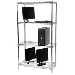 Chrome Wire Shelving (72 Inch High x 32 Inch Wide)