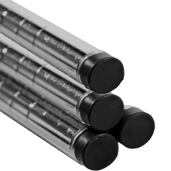 Chrome Tubular Shelving Posts (Pack Of 4)