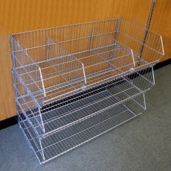 Retail Wire Stacking Baskets (980MM Wide)