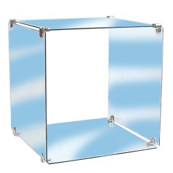 Single Glass Cube Retail Display Kit