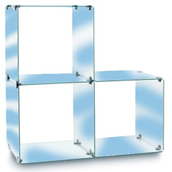 3 Glass Cubes Retail Display Kit