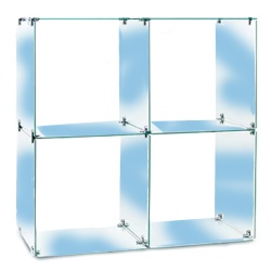 4 Glass Cubes Retail Display Kit