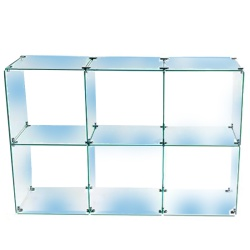 6 Glass Cubes Retail Display Kit