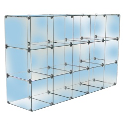 15 Glass Cubes Retail Display Kit