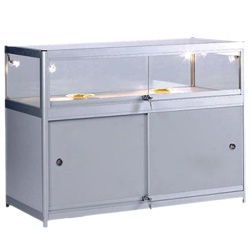 Glass Display Storage Counter 900 X 1000 X 600