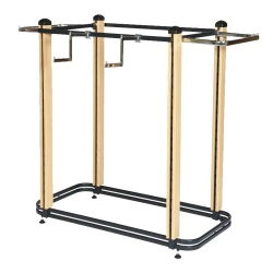 Cladded Twin Slot 4 Way Clothing Rail (1003MM)