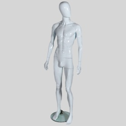 Male Egg Head Shop Mannequin Gloss White