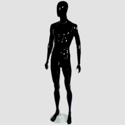 Male Egg Head Shop Mannequin Gloss Black