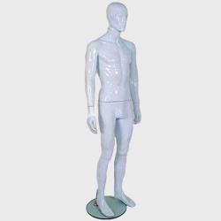 Male Abstract Mannequin Gloss White