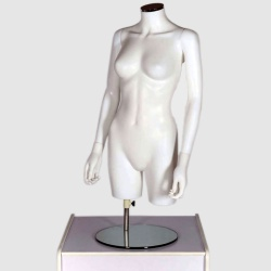 Female Torso Headless Mannequin Matt White
