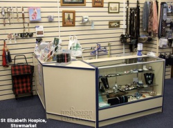 Retail Display Counter, Slatwall and Slatwall fittings for St Elizabeth Hospice, Stowmarket
