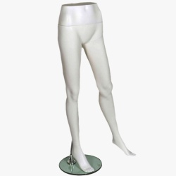 Female Leg Form Matt White Mannequin