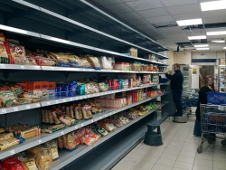 Shop Shelving Plain Wall Bay for Mendy's Kosher Superstore in Edgware