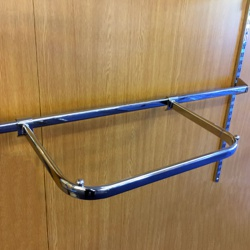 Twin Slot Hanging D Clothes Rail For Accessory Bar