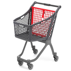 Plastic Supermarket Trolley - 100% Recyclable (78 Litres)