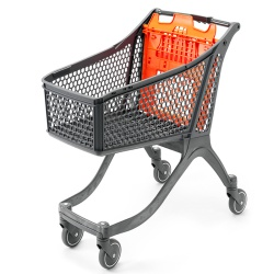 Plastic Supermarket Trolley - 100% Recyclable (129 Litres)