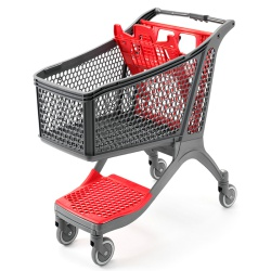 Plastic Supermarket Trolley - 100% Recyclable (164 Litres)