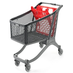 Plastic Supermarket Trolley - 100% Recyclable (198 Litres)