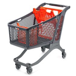 Plastic Supermarket Trolley - 100% Recyclable (220 Litres)