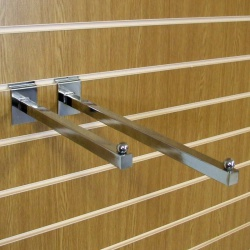 Slatwall Straight Arm Shop Fitting (Assorted Sizes)