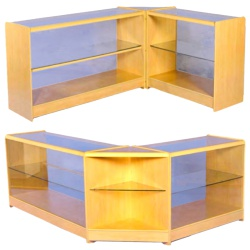 2 Level Glass Display Counters Combination Kit