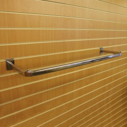 Slatwall Hanging D Garment Rail Shop Fitting (1000mm)