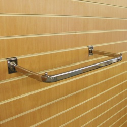 Slatwall Hanging D Garment Rail Shop Fitting (600mm)