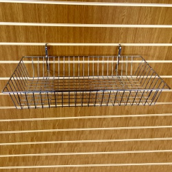 Slatwall Shallow Hanging Basket Shop Fitting