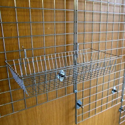 Gridwall Shallow Basket Shop Fitting