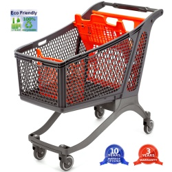 Recycled Plastic Shopping Trolleys