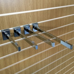 Slatwall Glass Shelf Brackets (Assorted Sizes)