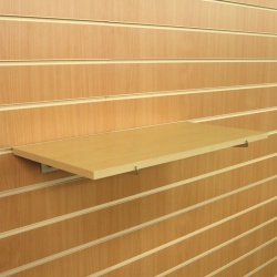 Slatwall MDF Shelves (Maple Or White)